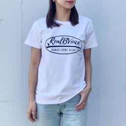 RealBvoice(リアルビーボイス)/ジャパンハート サーフボード レディスTシャツ モデル着用…(ア)ホワイト