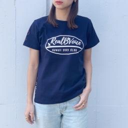 RealBvoice(リアルビーボイス)/ジャパンハート サーフボード レディスTシャツ モデル着用…(イ)ネイビー