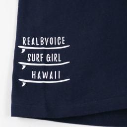 RealBvoice(リアルビーボイス)/ジャパンハート サーフボード レディスTシャツ (イ)ネイビー