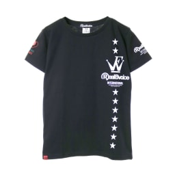 RealBvoice(リアルビーボイス)/ジャパンハート ウェーブファイターレディスTシャツ (ア)ブラック…front