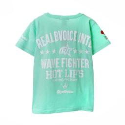 RealBvoice(リアルビーボイス)/ジャパンハート ウェーブファイターレディスTシャツ (イ)ライトグリーン…back