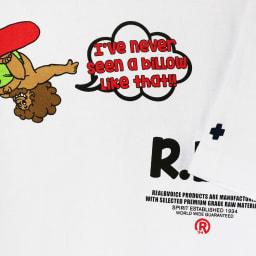 RealBvoice(リアルビーボイス)/デベソ バナナ Tシャツ (ア)ホワイト