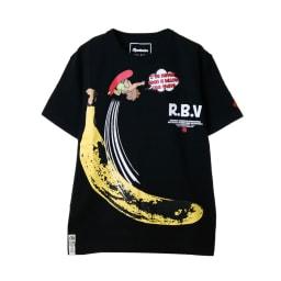 RealBvoice(リアルビーボイス)/デベソ バナナ Tシャツ (イ)ブラック…front