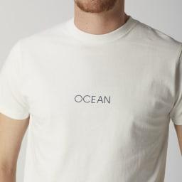 OP(オーシャンパシフィック)/シンプルロゴデザイン メンズTシャツ (ア)ホワイト
