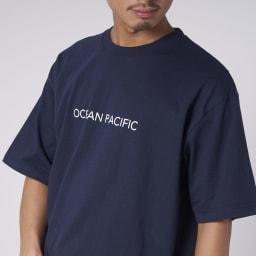 OP(オーシャンパシフィック)/MAPモチーフデザイン メンズTシャツ (イ)ネイビー