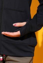 OP(オーシャンパシフィック)/ワンポイントロゴ レディスフルジップ長袖ラッシュガード (ウ)ブラック