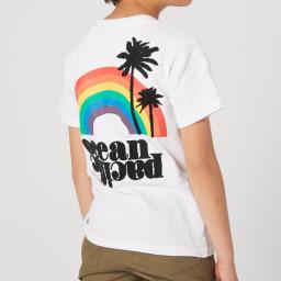 OP(オーシャンパシフィック)/トロピカルロゴデザイン キッズTシャツ (ア)ホワイト