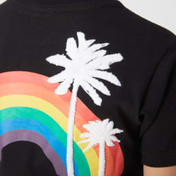 OP(オーシャンパシフィック)/トロピカルロゴデザイン キッズTシャツ (イ)ブラック