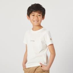 OP(オーシャンパシフィック)/ワンポイントロゴデザイン キッズTシャツ (ア)ホワイト