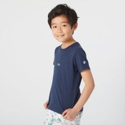 OP(オーシャンパシフィック)/ワンポイントロゴデザイン キッズTシャツ (イ)ネイビー