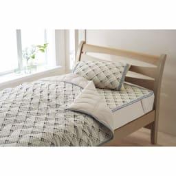 「ファブリーズ」ライセンス寝具/消臭抗菌 西川まくらパッド ドット柄 (イ)グレー ※まくらパッドのみの販売です