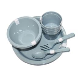 moz(モズ)/カトラリーセット セット内容…皿×4、椀×4、コップ×4、スプーン×4、フォーク×4、収納バッグ×1