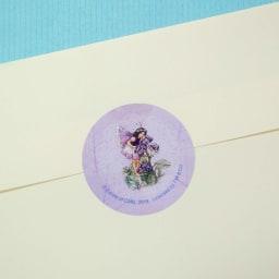 ディアカーズ/美しい絵画のようなレターセット フラワーフェアリーズ 封留めシール20ピース