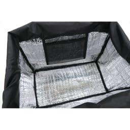 moz(モズ)/レジカゴ保冷バッグ 開口部は巾着型で、内側は保冷シート仕様