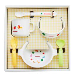 miki HOUSE(ミキハウス)/テーブルウェアセット 6点セット マグ、プレート、ボウル、握りやすいスプーン・フォーク、スプーンのセット