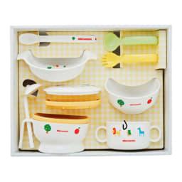 miki HOUSE(ミキハウス)/テーブルウェアセット 7点セット スープマグ、プレート、ボウル、握りやすいスプーン・フォーク、スプーン、フードセット