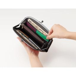 COGIT(コジット)/京都ちりめん猫 長財布 大きく開いて取り出しやすい