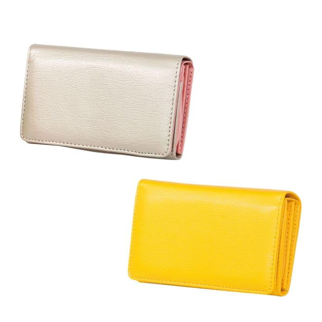 小銭仕分けてスッキリ財布 ア:シャンパンピンク、イ:イエロー