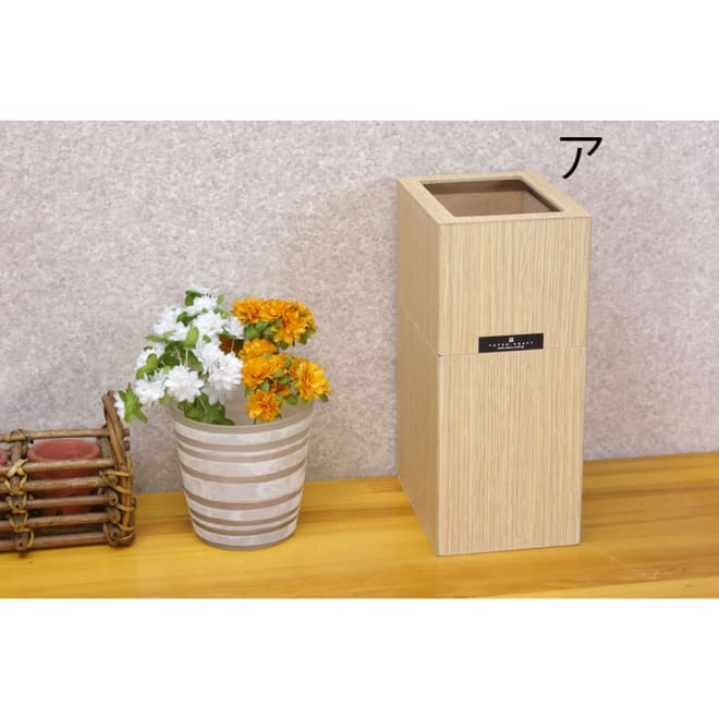 バスク すっきり見えるダストボックス/ゴミ箱 Sサイズ ア:ナチュラル 見た目もすっきりのダストボックス