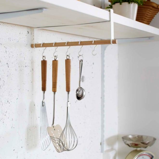 tosca 戸棚下ツールハンガー縦型 キッチンツールをまとめて収納出来るナチュラルでおしゃれなキッチンツールハンガー。 ※キッチンツールは付属しません