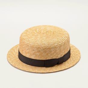 田中帽子店/麦わら帽子 子供用カンカン帽 マラン 写真