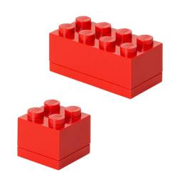 LEGO/レゴ Miniボックス セット (ア)レッド2点セット