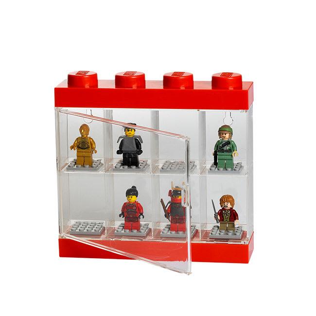 LEGO/レゴ ミニフィギュア ディスプレイケース8 使用イメージ(※フィギュアは商品に含まれません。)
