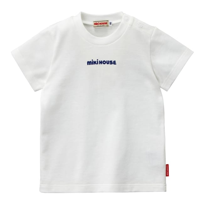 miki HOUSE(ミキハウス)/ロゴプリントシンプル半袖Tシャツ(80-130cm) (ア)ホワイト
