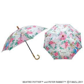ピーターラビットのUVカット晴雨兼用傘 フラワー 写真