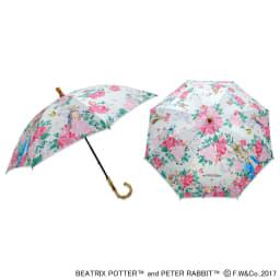 ピーターラビットのUVカット晴雨兼用傘 フラワー