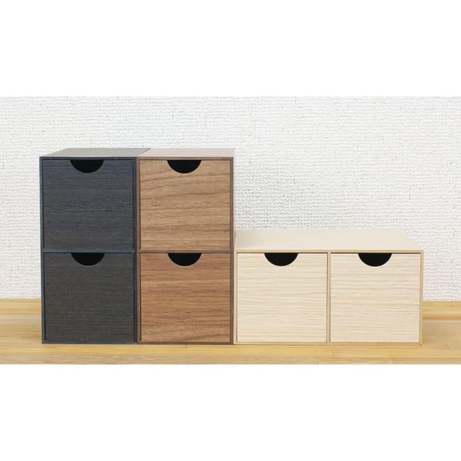 橋本達之助工芸/バスク デスクに使いやすいミニ収納BOX (ウ)ブラック、(イ)ブラウン、(ア)ナチュラル