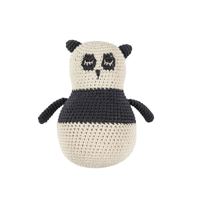 sebra(セバ)/手編み起き上がりこぼし|おもちゃ (ウ)パンダ