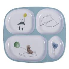 sebra(セバ)/4ルームメラミンプレートスカイ|子供食器