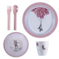sebra(セバ)/プレート、ボウル、カップ、フォーク・スプーンのディナーギフト4個セット スカイ|子供食器