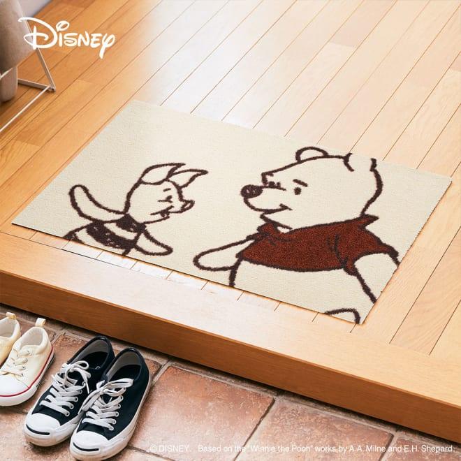 Pooh(くまのプーさん)/玄関マット 50×75cm|Disney(ディズニー) (ア)プーさん&ピグレット