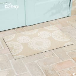 ミッキー/玄関マット レース 50×75cm|Disney(ディズニー) (ア)ベージュ