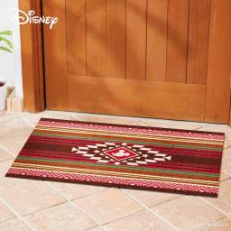 ミッキー/玄関マット キリム 60×90cm|Disney(ディズニー) (イ)レッド