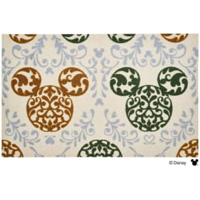 ミッキー/玄関マット ロココ調 75×120cm Disney(ディズニー) 写真