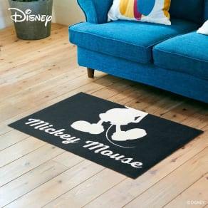 玄関マット Mickey/ミッキー シルエット 60×90cm[Disney/ディズニー] 写真