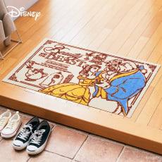美女と野獣/玄関マット 60×90cm|Disney(ディズニー)
