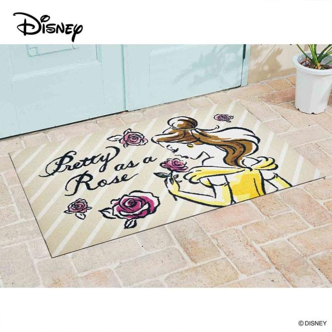 美女と野獣/玄関マット 75×120cm|Disney(ディズニー) (イ)ベル