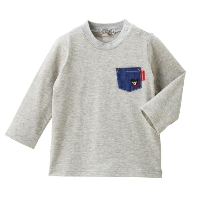 miki HOUSE(ミキハウス)/ダブルB 長袖Tシャツ (イ)グレー