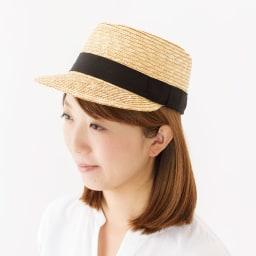 田中帽子店/麦わら帽子 キャップ型デザイン マチス