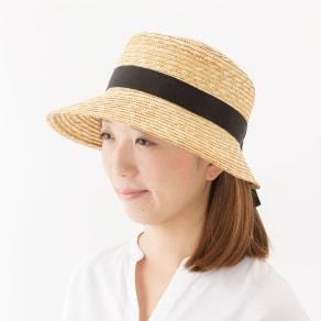 田中帽子店/麦わら帽子 ポークパイ型女優帽 アリス 写真