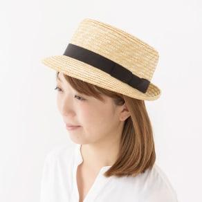 田中帽子店/麦わら帽子 麦わら上がりつばキャノチエ コレット 写真