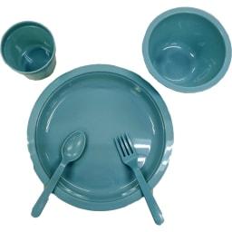 moz(モズ)/レジャー食器セット|カトラリーセット|エルク お椀、お皿、カップ、フォーク、スプーン×各4セット