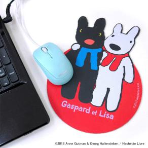 リサとガスパール ダイカットマウスパッド 写真