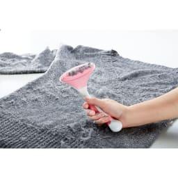洗濯塾 衣類にやさしい毛玉取りブラシ 使用例:こんなに取れました!