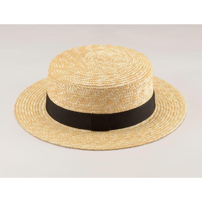 田中帽子店/麦わら帽子 マランジー 大麦レディスカンカン帽 UK-H026