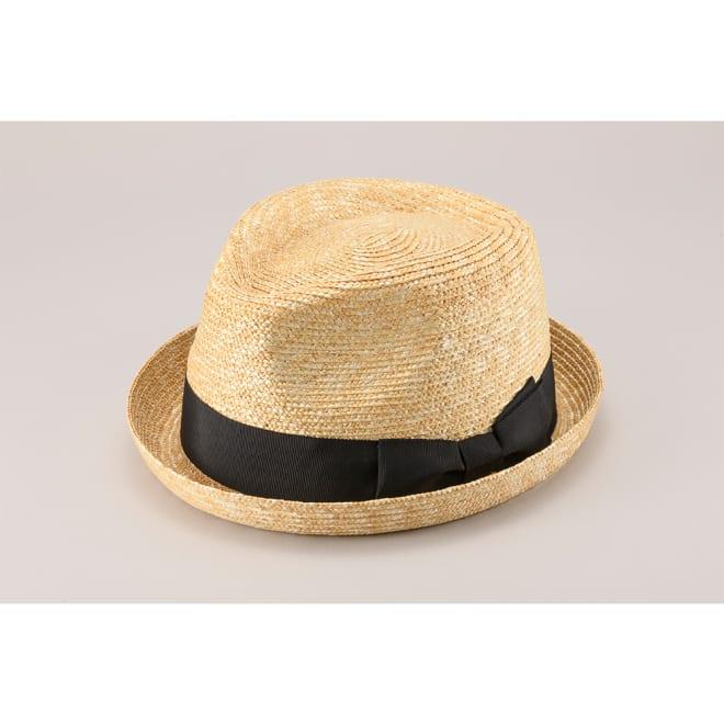 田中帽子店/麦わら帽子ロイド  男性用ショートプリム オールアップUK-H077